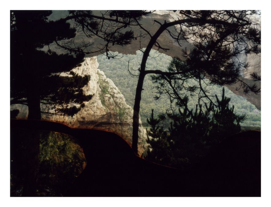 Untitled (1212-2), from the Constructed Landscapes series, 2013. C-print made of collaged and montaged negatives.